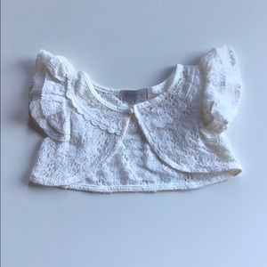 Trish Scully | Ivory Lace Capelet Vest | 5